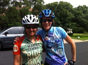 With Catherine after dam loop #1.