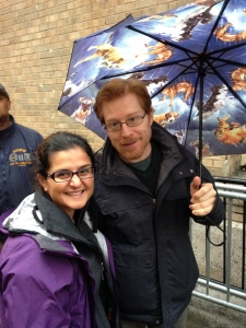 With Anthony Rapp